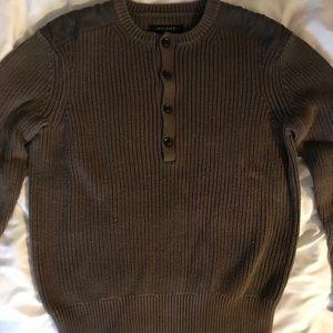 ALL SAINTS dark tan/brown knit sweater
